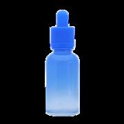 Флакон-капельница 30 мл с крышкой и пипеткой (светло-синий градиентный)