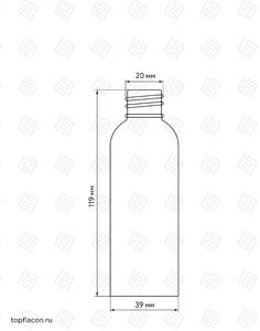 Флакон пластик 100 мл (узкий)
