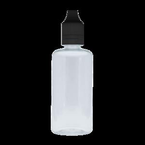 Флакон пластик 30 мл (прозрачный с черной крышкой)