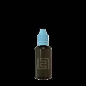 Флакон пластик 50 мл (черный прозрачный, голубая крышка)