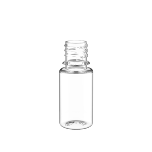 10ML V3 PET UNICORN BOTTLE WITH CRC & TAMPER EVIDENT BREAK-OFF BANDS (CLEAR BOTTLE WITH NATURAL CAP)