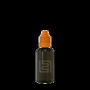 Флакон пластик 50 мл (черный прозрачный, оранжевая крышка)