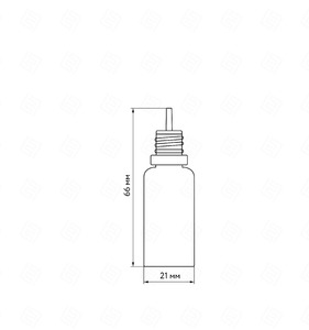 Флакон пластик 10 мл (черная крышка)
