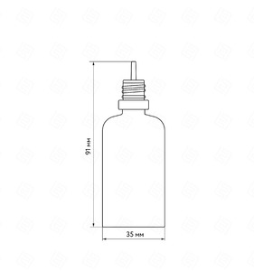 Флакон пластик 50 мл (черный прозрачный, зеленая крышка)