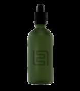 Флакон-капельница 100 мл с крышкой и пипеткой (зеленый матовый)