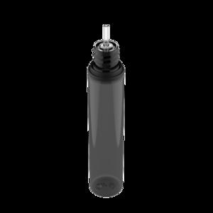 30ML V3 PET UNICORN BOTTLE WITH CRC & TAMPER EVIDENT BREAK-OFF BANDS (TRANSPARENT BLACK BOTTLE WITH SOLID BLACK CAP)