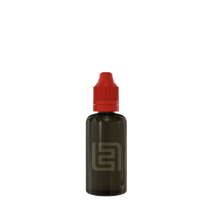 Флакон пластик 50 мл (черный прозрачный, красная крышка)