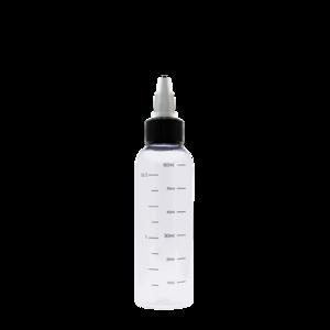 Флакон пластик с мерной шкалой 60 мл (узкий)