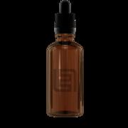 Флакон-капельница 50 мл с крышкой и пипеткой (коричневый)