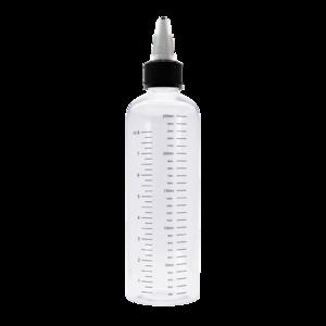 Флакон пластик с мерной шкалой 250 мл (узкий) GL24