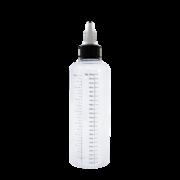 Флакон пластик с мерной шкалой 230 мл (узкий) GL24