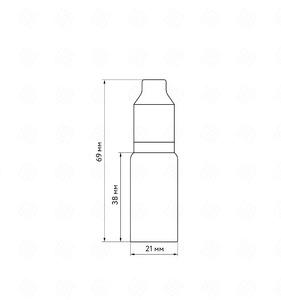 Флакон пластик 10 мл (белая крышка)