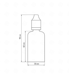 Флакон пластик 50 мл (прозрачный, черная крышка)