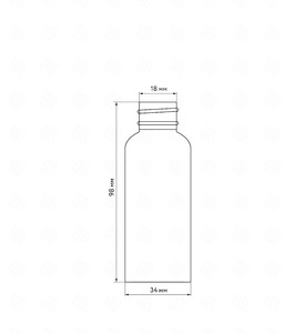Флакон пластик 60 мл (белый)