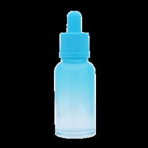 Флакон-капельница 30 мл с крышкой и пипеткой (голубой градиентный)