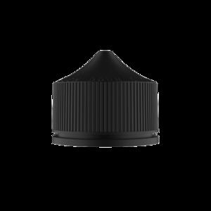 100ML V3 PET UNICORN BOTTLE WITH CRC & TAMPER EVIDENT BREAK-OFF BANDS (TRANSPARENT BLACK BOTTLE WITH SOLID BLACK CAP)