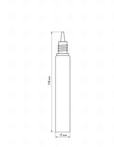 Флакон пластик 15 мл (белая крышка)