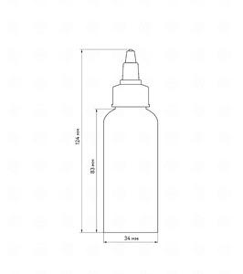 Флакон пластик 60 мл (черный)