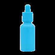 Флакон-капельница 30 мл с крышкой и пипеткой (голубой матовый)