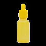 Флакон-капельница 30 мл с крышкой и пипеткой (желтый)