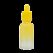 Флакон-капельница 30 мл с крышкой и пипеткой (желтый градиентный)