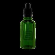 Флакон-капельница 30 мл с крышкой и пипеткой (зеленый)