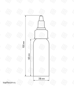 Флакон пластик 30 мл (узкий)