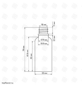 Флакон-капельница 30 мл с крышкой и пипеткой (прозрачный)