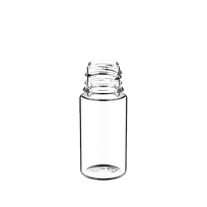 30ML STUBBY PET UNICORN BOTTLE WITH CRC & TAMPER EVIDENT BREAK-OFF BANDS (CLEAR BOTTLE WITH SOLID BLACK CAP)