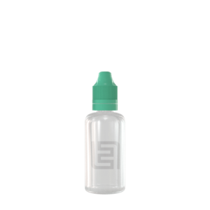 Флакон пластик 50 мл (прозрачный, зеленая крышка)