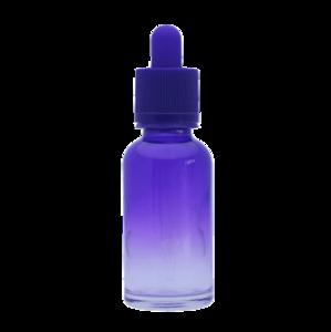 Флакон-капельница 30 мл с крышкой и пипеткой (фиолетовый градиентный)