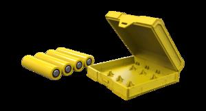 Кейс для четырех аккумуляторов Chubby Gorilla (желтый)