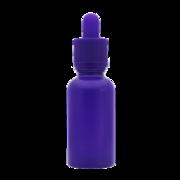 Флакон-капельница 30 мл с крышкой и пипеткой (фиолетовый матовый)