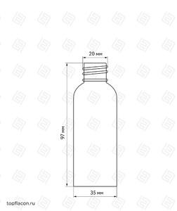 Флакон пластик 60 мл (узкий)