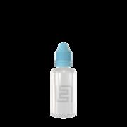 Флакон пластик 50 мл (прозрачный, голубая крышка)