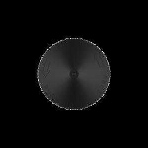 120ML V3 PET UNICORN BOTTLE WITH CRC & TAMPER EVIDENT BREAK-OFF BANDS (CLEAR BOTTLE WITH SOLID BLACK CAP)