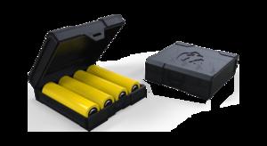 Кейс для четырех аккумуляторов Chubby Gorilla (черный)