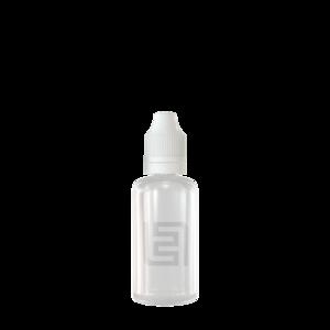 Флакон пластик 50 мл (прозрачный, белая крышка)