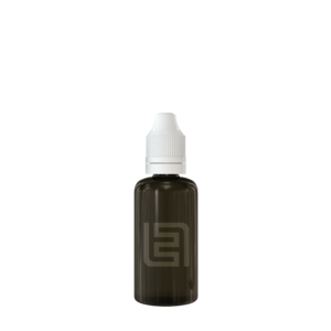 Флакон пластик 50 мл (черный прозрачный, белая крышка)