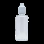Флакон пластик 30 мл (прозрачный с белой крышкой)