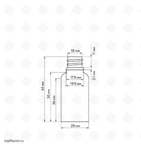 Флакон-капельница 10 мл с крышкой и пипеткой (коричневый)