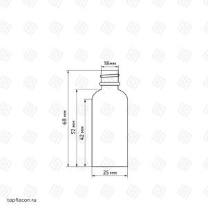Флакон-капельница 15 мл с крышкой и пипеткой (коричневый)
