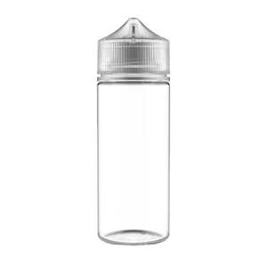 120ML V3 PET UNICORN BOTTLE WITH CRC & TAMPER EVIDENT BREAK-OFF BANDS (CLEAR BOTTLE WITH NATURAL CAP)