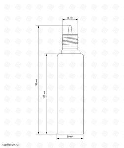 Флакон пластик LDPE Chubby Gorilla 60 мл (розовый)