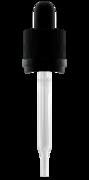 Крышка с пипеткой 120мл (матовая) и защитой от детей GL 20 мм,  черная